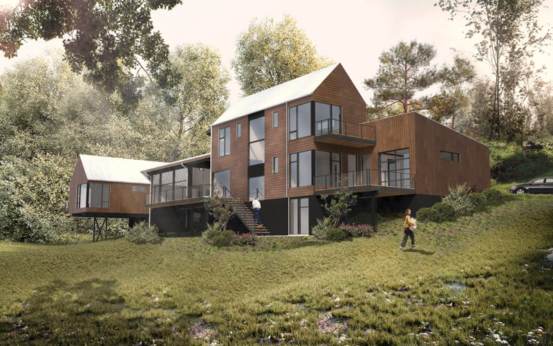 Elk Mountain Ridge Residential Architecture Asheville Nc Vellum Modern